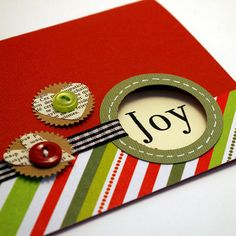 Another simple xmas card concept - love the cut-out, the use of different papers/textures, and the hearts.