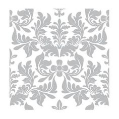 Liberty 10 in. x 10 in. Vintage Inspired Clear Damask Furniture Stencil SNL003-CL-D at The Home Depot - Mobile