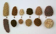 small round crochet patterns   ... cones a long b medium c short round cones d small e medium f large
