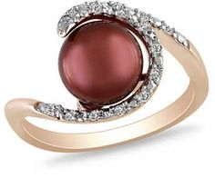 #zales.com                #ring                     #8.0-8.5mm #Chocolate #Cultured #Freshwater #Pearl #1/10 #T.W. #Diamond #Ring #Rose #Rhodium #Plated #Sterling #Silver            8.0-8.5mm Chocolate Cultured Freshwater Pearl and 1/10 CT. T.W. Diamond Ring in Rose Rhodium Plated Sterling Silver                                         http://www.seapai.com/product.aspx?PID=1113451