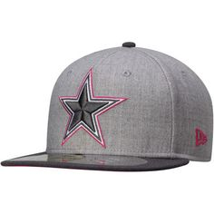 Cowboys New Era Breast Cancer Awareness On-Field 59FIFTY Fitted Hat – Gray    Graphite 20ec098d78b