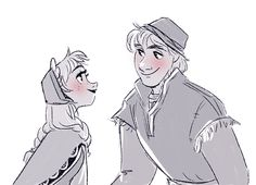 Paperman style Anna and Kristoff! #Frozen