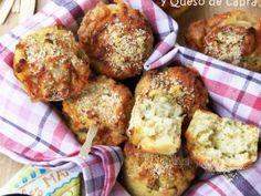Muffins de Jalapeños y Queso de Cabra