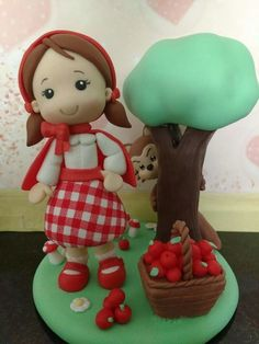 Topo de bolo da Chapeuzinho Vermelho
