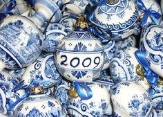 Delftware Christmas ornaments