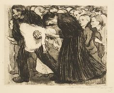 "Käthe Kollwitz, ""Run Over"" (1910)."