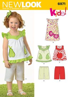 Pattern for Toddlers' Separates | Simplicity
