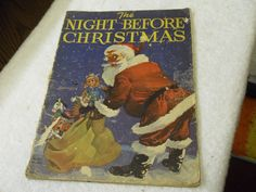 Illustrated Classics Ages Children in English Christmas Books, Vintage Christmas, Old Fashioned Christmas, The Night Before Christmas, Vintage Children's Books, Childrens Books, Nostalgia, Classic, Illustration