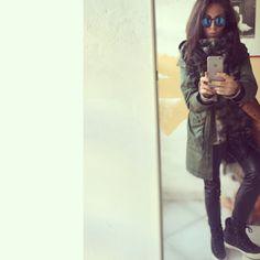 #leatheronleather #parka #element #converse #polaroid #polaroidsunnies