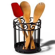 Wrought Iron Kitchen Utensil Holder Image