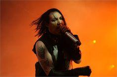 Marilyn Manson performing at Quart Festival in 2009.