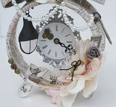 Msliberty Creations: Ingvild Bolme Shabby Chic Altered Clock and Envelope Tutorial