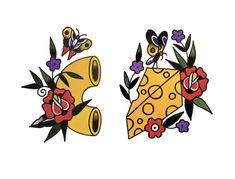 Traditional Tattoo Filler, Traditional Tattoo Woman, Traditional Tattoo Flowers, Traditional Tattoo For Daughter, Traditional Tattoo Sleeves, Tigh Tattoo, Knee Tattoo, Tattoo Forearm, Flash Art