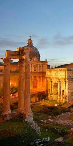 The Roman Forum, Rome Italy,