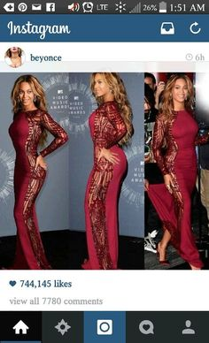 Red dress instagram beyonce