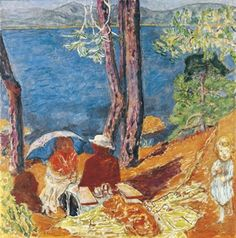 Pierre Bonnard, Bord de mer, sous les pins 1921