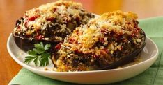 Forget stuffed peppers and serve your veggie guests this sophisticated stuffed aubergine dish instead, from BBC Good Food. Bbc Good Food Recipes, Wine Recipes, Aubergine Recipe, Thing 1, Eggplant Recipes, Executive Chef, Greek Recipes, Italian Style, Vegetable Recipes
