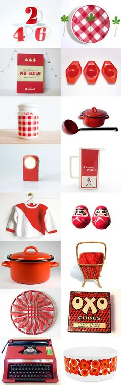 Red Vintage France Team Treasury by Paloma LaSuperbe on Etsy--Pinned with TreasuryPin.com #Etsy #EtsyFR #FrenchVintage #French #vintage #VintageFinds #vintagefr #retro #colorful #EtsyFinds #red