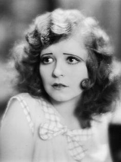 Vintage Clara Bow eyebrows. Sad and downward lines.