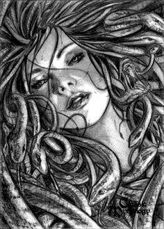 Medusa Sketch Card - Craig Yeung by *Pernastudios on deviantART