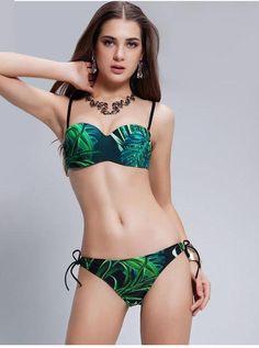 f929cc855314a Wild One Tribal Tropical Bikini Set. Push Up BikiniStrappy Bikini TopBikini  SetsBandeau BikiniBikini SwimwearBikinisNylonsHigh WaistFresh