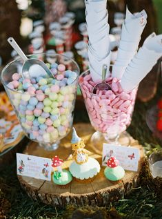 Delicious and colorful pastel candy found at a unique baptism candy bar! #eliteeventsathens #inthewoods #fairytale #story #magic #baptism #christening #eventplanning #decoration #candybar #desserts #cupcakes #athens #greece