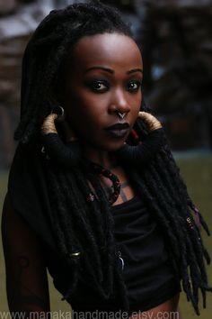 Do black people care if white people wear dreads? Black Goth, Dreadlocks, Natural Hair Styles, Long Hair Styles, Afro Punk, Beautiful Black Women, You're Beautiful, Beautiful People, Textured Hair