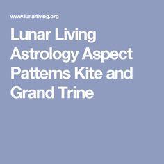 Lunar Living Astrology Aspect Patterns Kite and Grand Trine