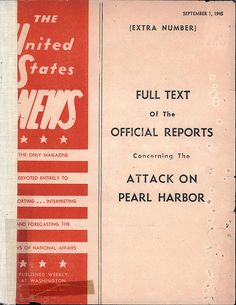a report about the attack on pearl harbor in the world war two Radiogram reporting the pearl harbor attack, from commander in chief of the   fleet anchored at pearl harbor, catapulting the united states into world war ii.