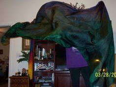 Sahariah's Silk Belly Dance Veil Rectangle by SilksbySahariah, $50.00