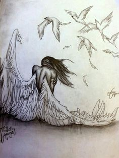 """pencil drawings of angels and demons. >>> Learn even more at the photo link >> Learn even more at the photo link""""> pencil drawings of angels and demons. >>> Learn even more a Angel Drawing, Angel Sketch, Deep Drawing, Drawing Eyes, Angels And Demons, Beautiful Drawings, Amazing Pencil Drawings, Pretty Drawings, Drawing People"""