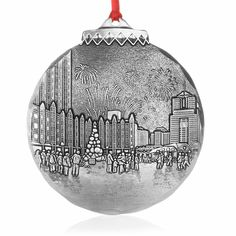 Pittburgh Market Square Light Up Night  Commemorative Ornament