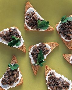 Named for the 17th-century French Marquis d'Uxelles, Duxelles is an adaptable, delectable mixture of finely chopped mushrooms, shallots, and herbs. Serve on toast points with whipped goat cheese and fresh parsley, as shown, or use it as a filling for ravioli or omelets.