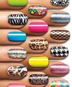 nail stickers...use these all the time!