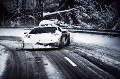 lambo snow drift