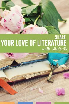 As an English teacher, how can you share your love of reading with students? Find some approaches that you are comfortable with to engage students in literature. English Classroom, Art Classroom, Future Classroom, Classroom Ideas, Middle School Ela, Middle School English, High School, English Lesson Plans, English Lessons