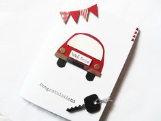 Passed driving test card congratulations cards well by KaisCards Passed Driving Test, Driver Card, Well Done Card, Car Card, New Home Cards, Diy Cards, Handmade Cards, New Drivers, Test Card