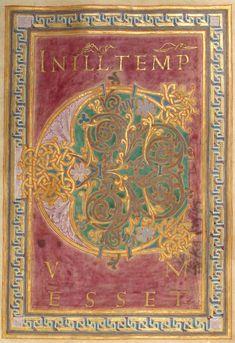 Illuminated Lettrine (f°14r). -- Evangelistar (Gero-Codex), Reichenau, vor oder um 969 [ULB Hs 1948].