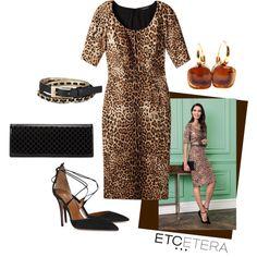 Etcetera | Holiday 2015: CHEETAH dress. www.etcetera.com.