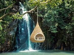 Dig This NestRest by Quinn Roberts While most outdoor furniture is one-dimensional, the NESTREST by DEDON has taken it a step further Image Zen, Cool Tree Houses, Swinging Chair, Chair Swing, Outdoor Furniture, Outdoor Decor, Unusual Furniture, Hanging Furniture, Garden Furniture