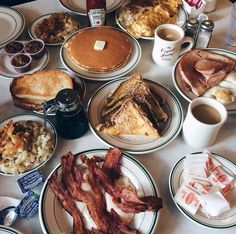 You are what you eat, they say. I wanna be bacon, pancakes and coffee...