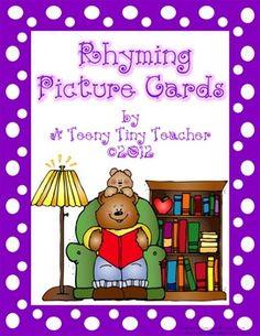 Rhyming Picture Cards with Printables - A Teeny Tiny Teacher - TeachersPayTeachers.com