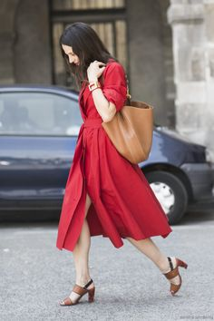 Red Dress, after Lemaire