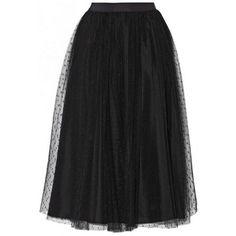 Falda larga de tul negro. Pollera De TulFalda Negra ... 4b38d46af602