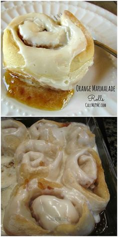 Sinfully Delicious Orange Marmalade Rolls > Call Me PMc Sweet Breakfast, Breakfast Recipes, Dessert Recipes, Breakfast Club, Breakfast Ideas, Just Desserts, Delicious Desserts, Yummy Food, Citrus Recipes