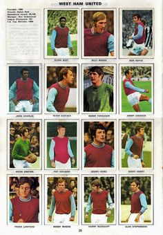 WEST HAM UNITED 1970-71. By Soccer stars. | The Vintage Football Club