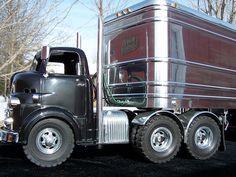 Old school semi truck #referatruck