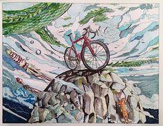 WEBSTA @ likamorie - Купила себе супер раскраску #вокругсветанавелосипеде издательства @mifbooks  В детстве у меня была очень толстая раскраска и была в ней картинка, кстати тоже с велосипедом, которая, по моему детскому мнению, была раскрашена идеально - выглядело это примерно так: ровным слоем простым карандашом лист был закрашен вместе с картинкой ☝