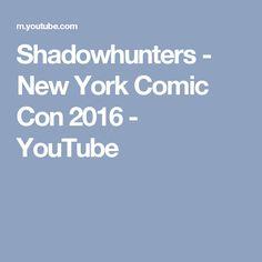 Shadowhunters - New York Comic Con 2016 - YouTube