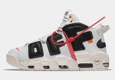 "bb8cb91e23d Off White x Nike Air More Uptempo ""The Twelve"" White Black Air Jordan Shoes"